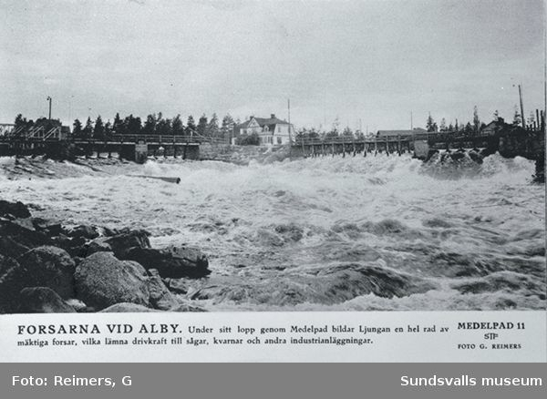 Forsarna i Ljungan vid Alby. Foto för STF:s årsbok