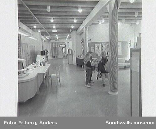 Peter Tillbergs offentliga utsmyckning i barn- och ungdomsbibliotekets lokaler.