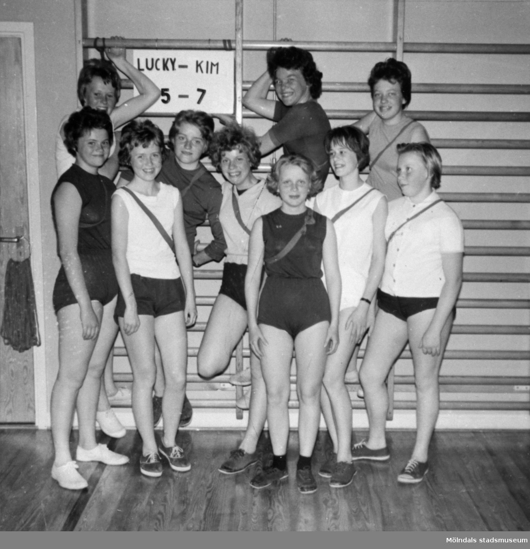 Flickor i gymnastiksalen, Centralskolan (nuv. Kyrkskolan) 1960.