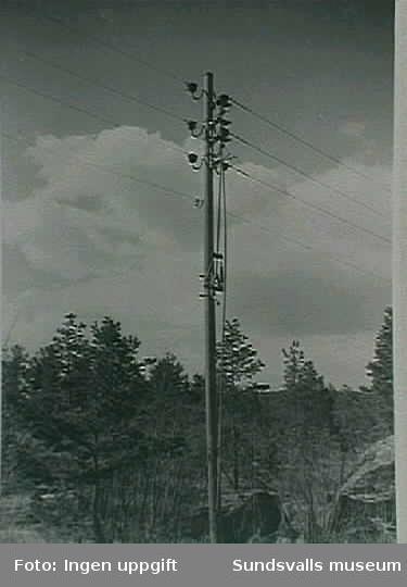 Linjefrånskiljare, Fläsian. Ur fotoalbum från Sundsvalls Energi.