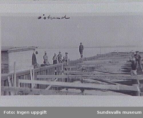 Kajbygge vid Östrands sulfatfabrik, Timrå.