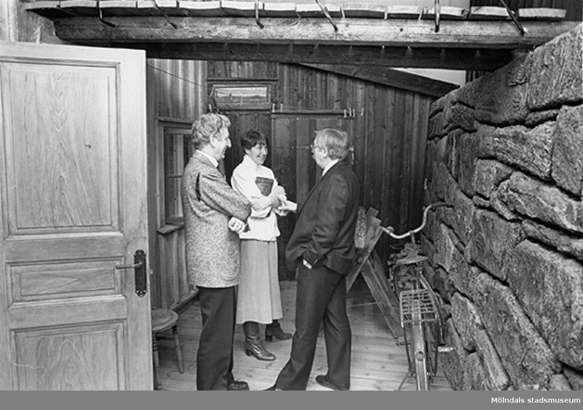 Från vänster står Erling Alriksson, Jill Onsér-Franzén och Gösta Tholinsson, efter 1987.