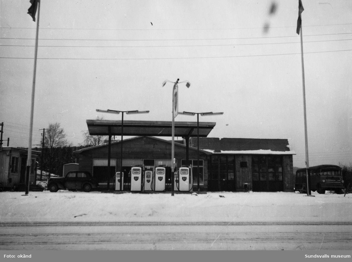 BP-stationen Bjästa, Örnsköldsvik. Köpman: Helge Wigren.