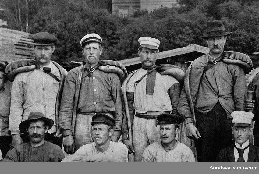 Arbetare vid Utviks sågare, Alnö.