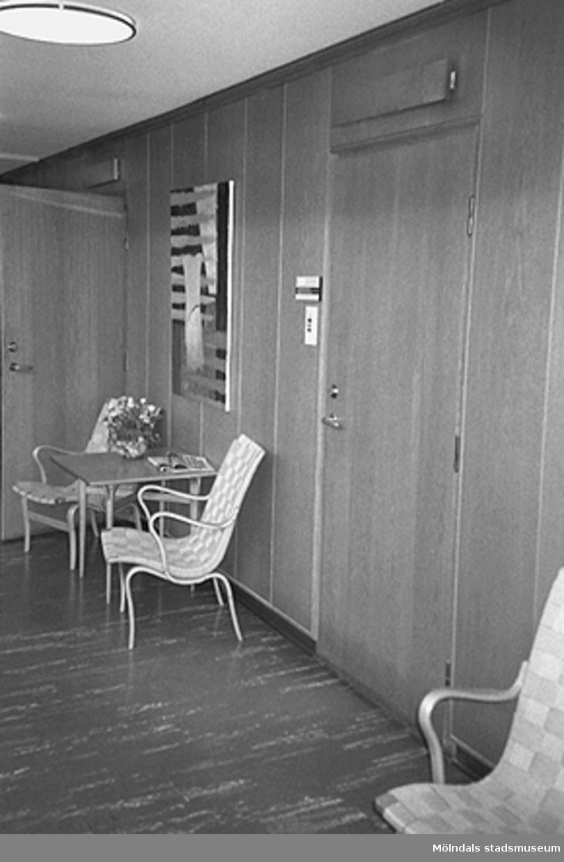 Interiör i Mölndals stadshus, juni 1994.