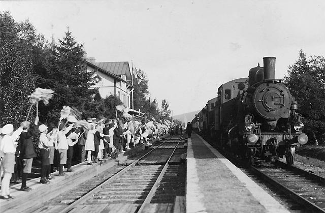 Norrlandsresan. Järnvägsstationen i Åre den 26 juli 1924.
