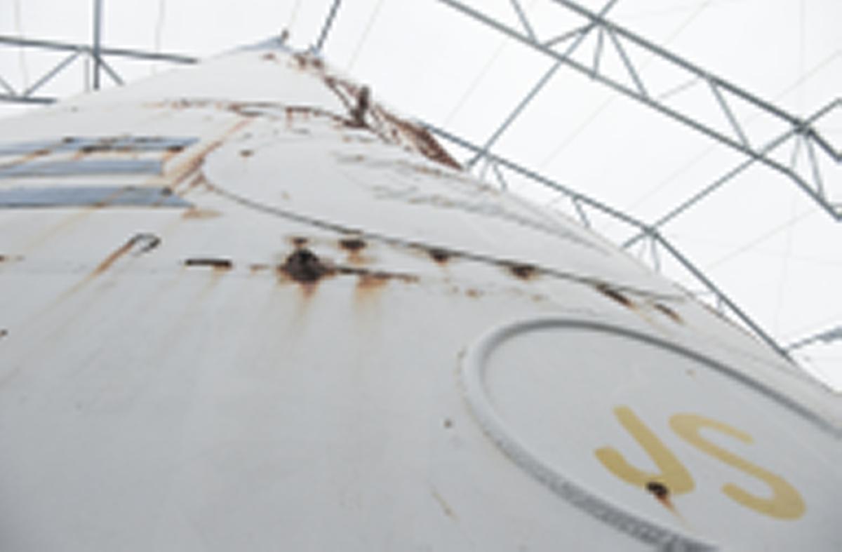 M/s ESTONIAS bogvisir, placerat på Muskö Örlogsbas. Föremålsnummer SM 28294.