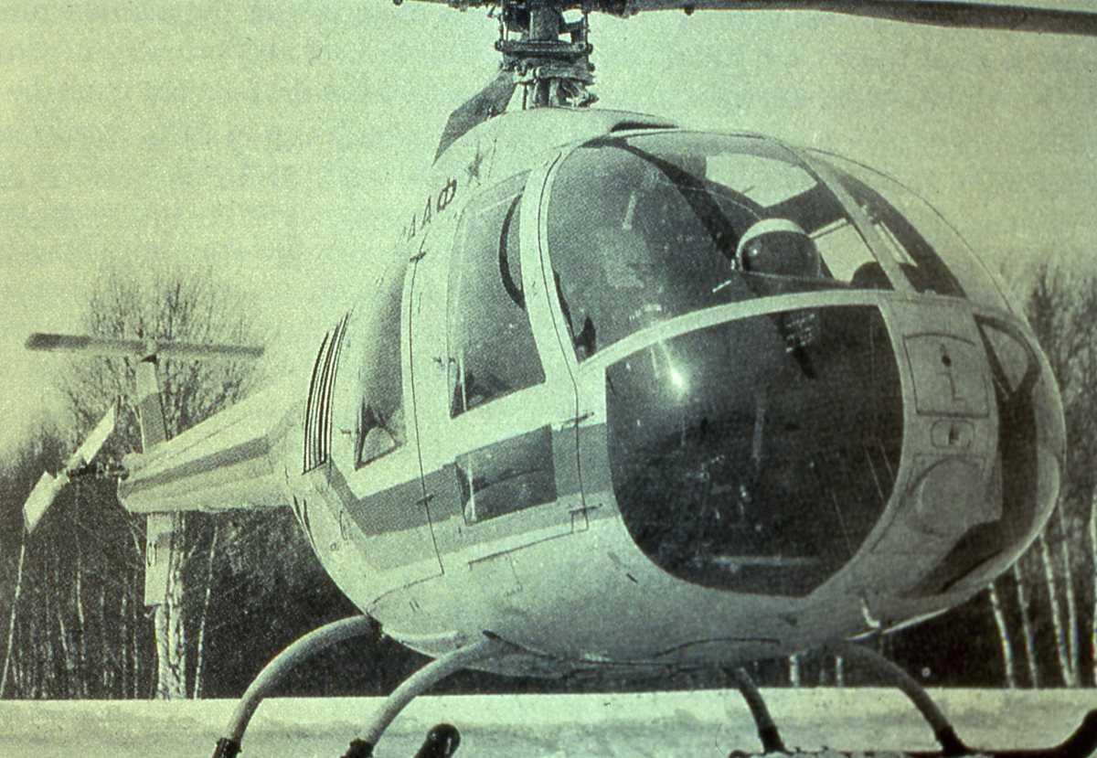 Russisk fly av typen Mi-34 Hermit.