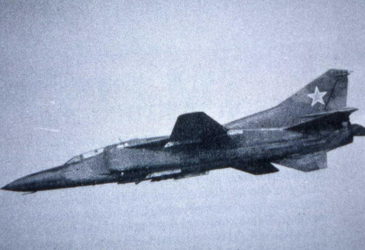Russisk fly av typen Mikoyan-Gurevich Mig-23U Flogger C.