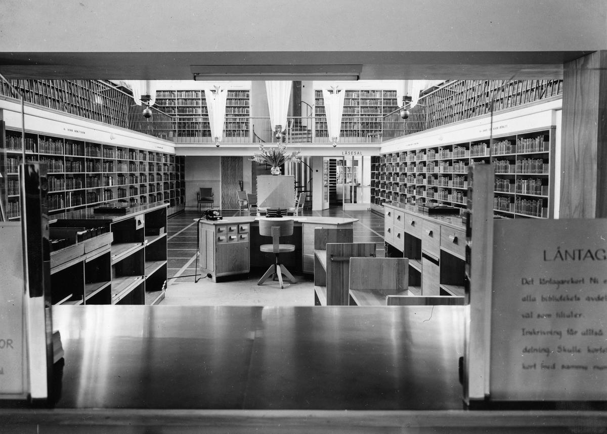 Folkets Hus i Malmö Interiör av biblioteket