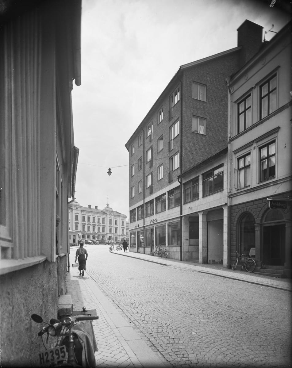 Konsum, Oskarshamn Apollohuset Fasaden mot Kungsgatan även kallad Kråkerumsbacken Exteriör