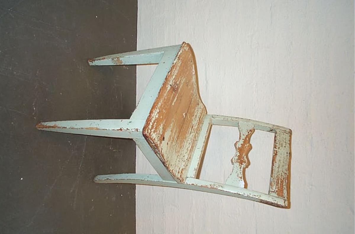 Form: Enkel dekor i horisontal ryggspil  -  kvadratisk sete
