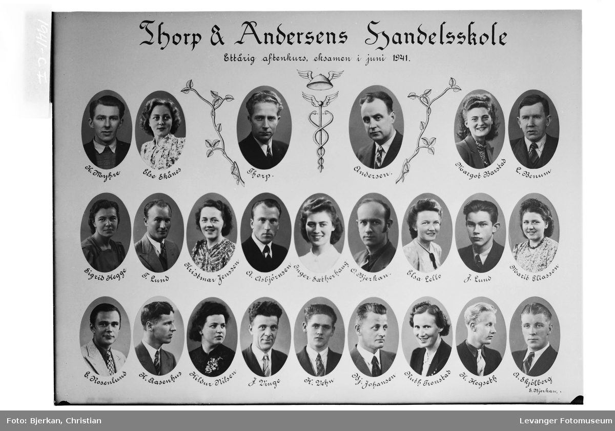 Thorp & Andersens Handelsskole, 1941