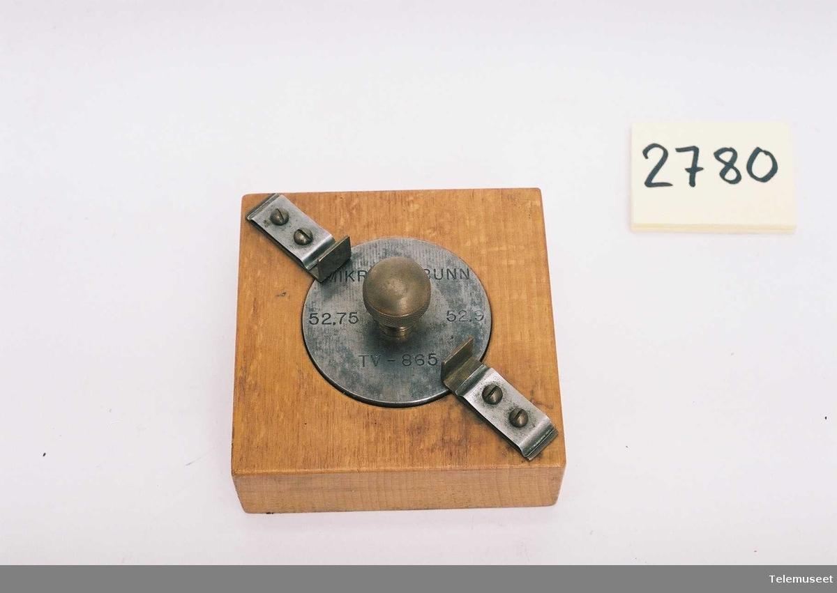 For måling av mikrofonbunn