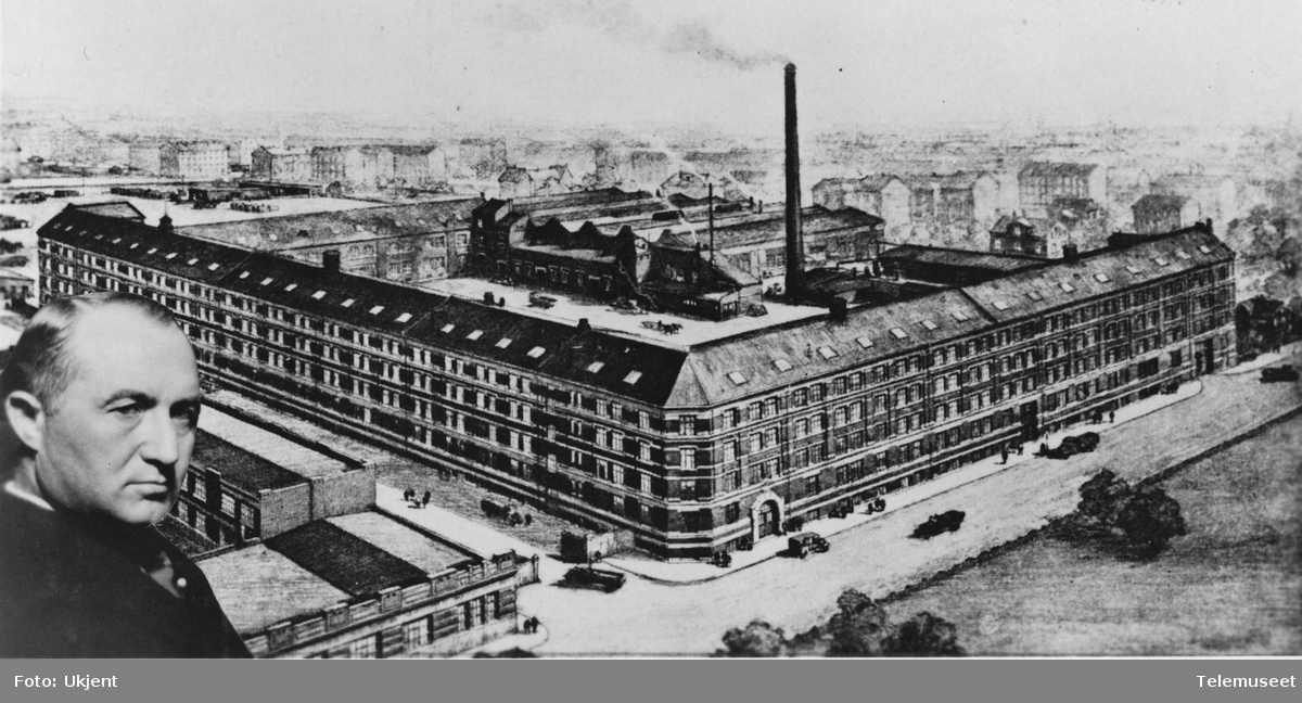 Bygning, fabrikk og portrett, Elektrisk Bureau