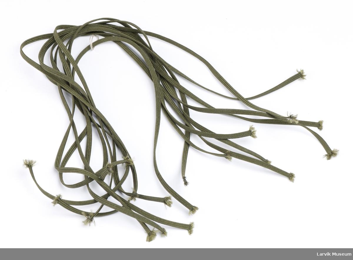 10 stk ferdig klippet elastikk/strikk