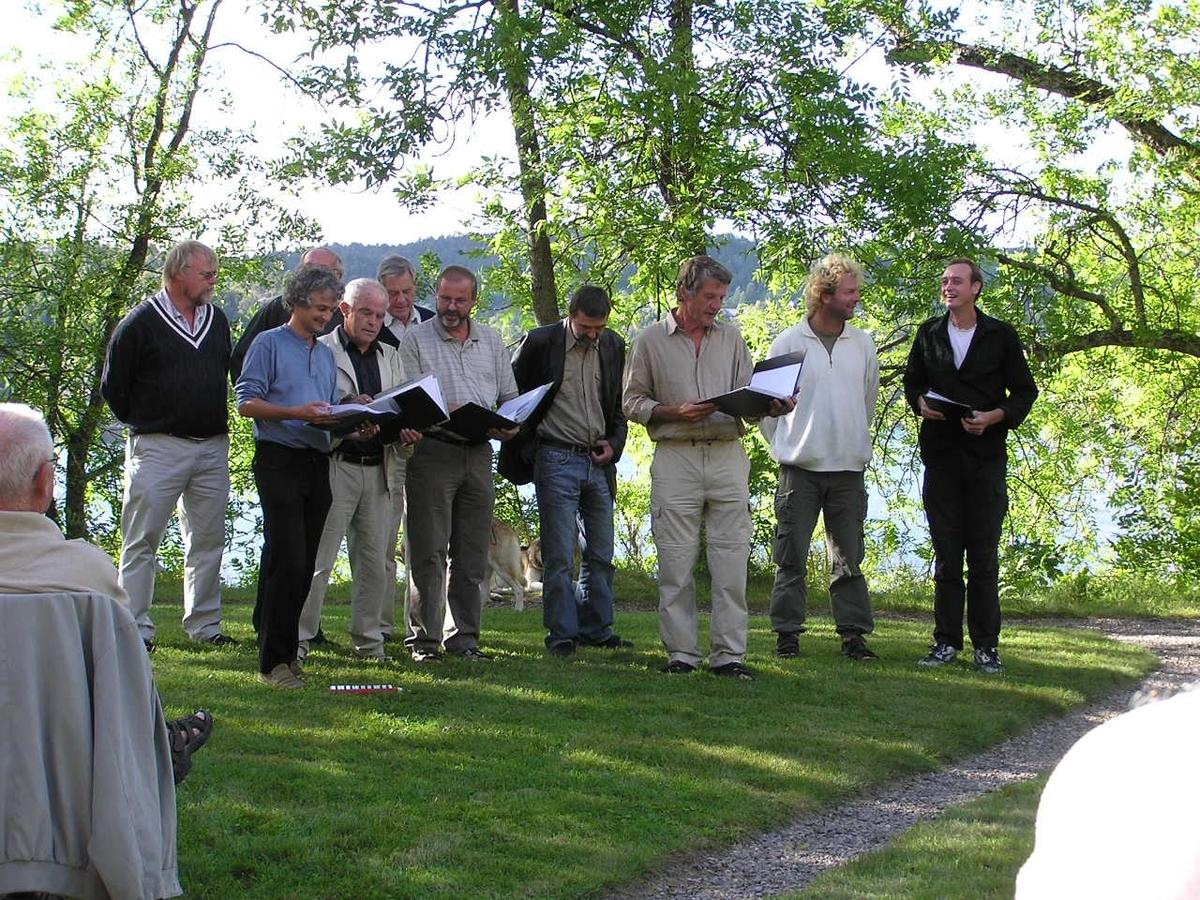 Bursdagsfeiring, Henriette Marie  Homann på Berg-Kragerø Museum. Dato 22.08.2004