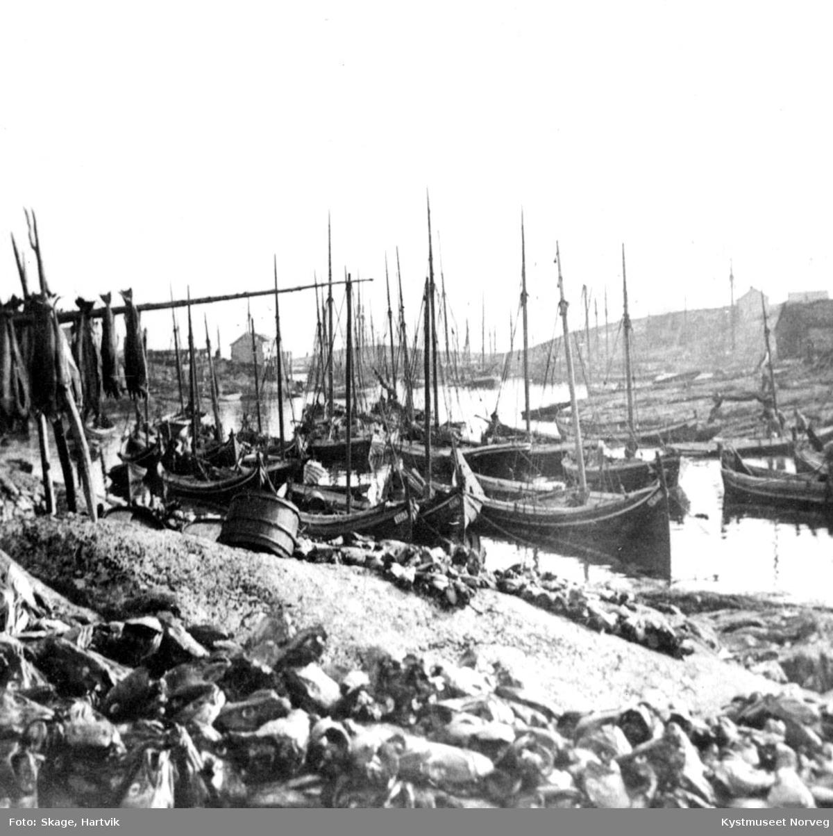 Sør-Gjæslingan, tørking av fisk