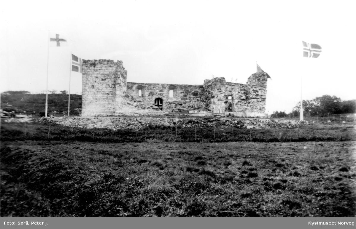 Nærøya kirke-ruiner, martna i 1920