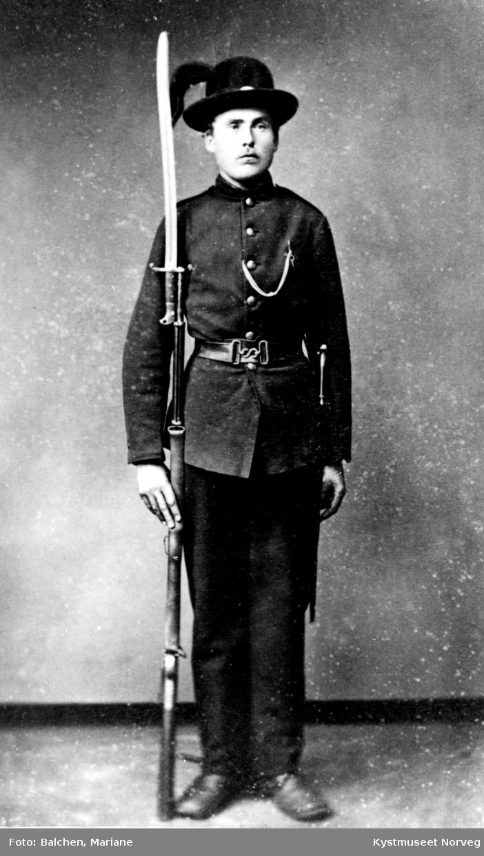 Konrad Hunnestad som soldat