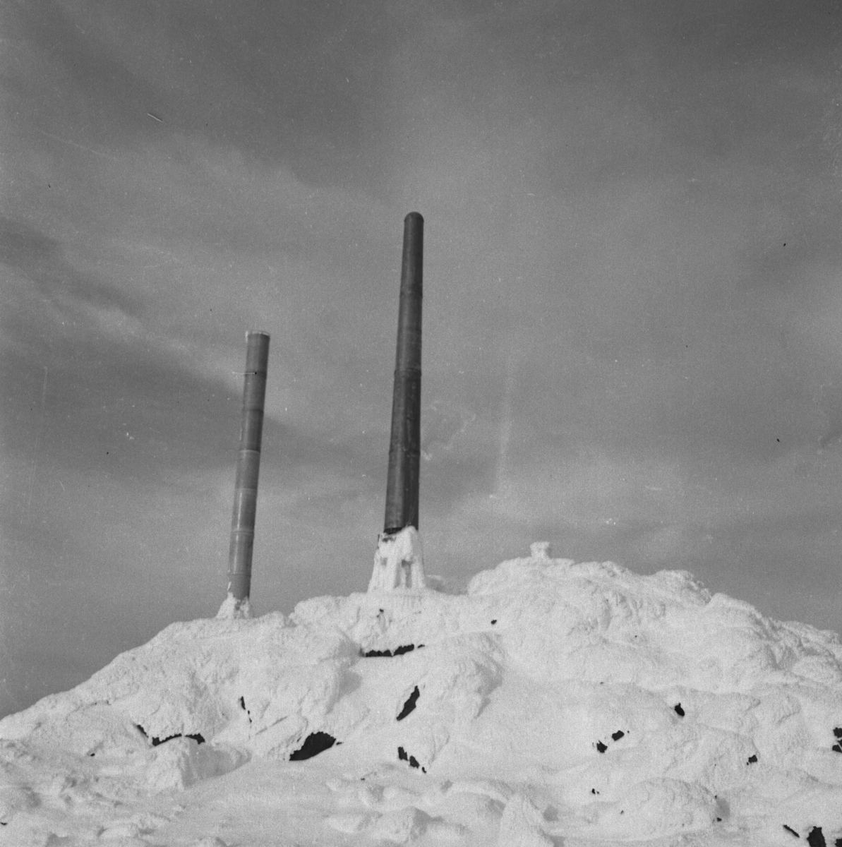 Tynset, Tronfjell, Radiosender, Tårn, Vinter