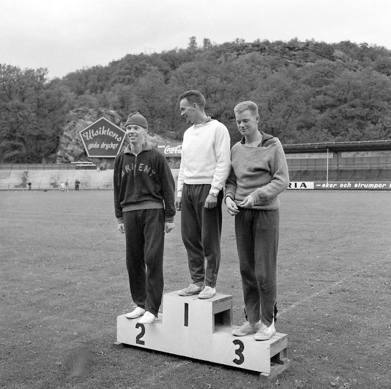 """Enligt notering: """"Lilla D. M. i fri idrott på Rimnersvallen 2/7 - 3/7 -60""""."""