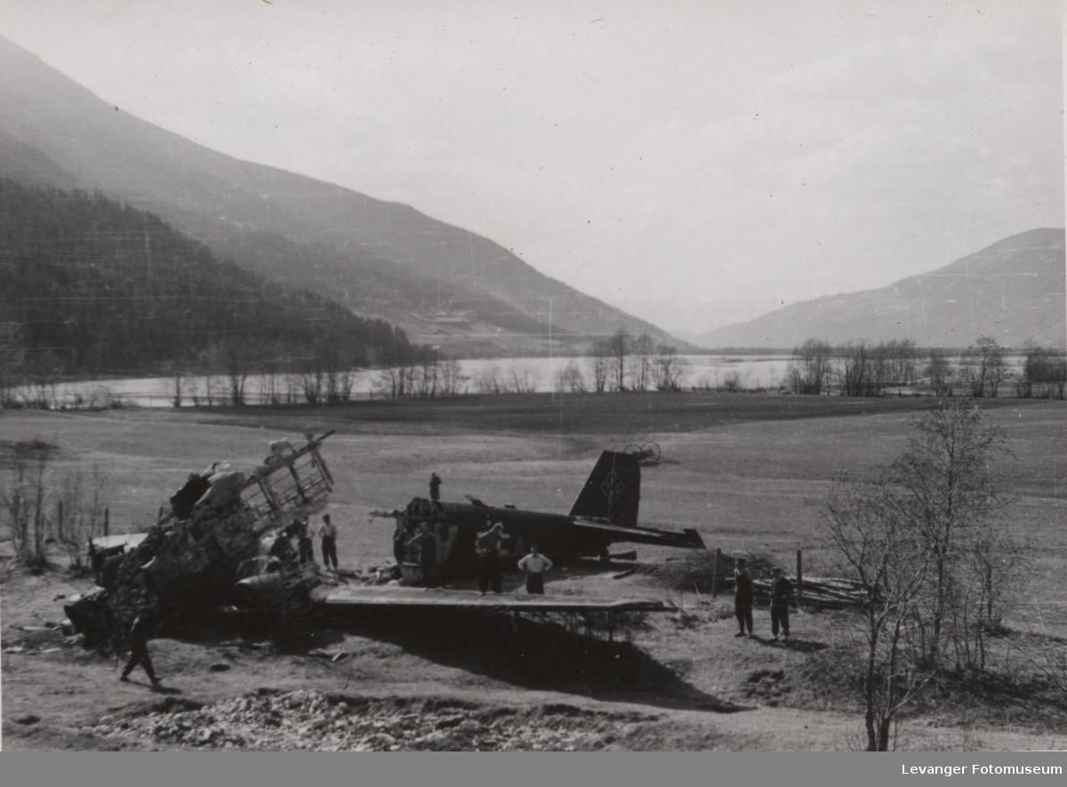 Vrak av Junkers 52 ved Ringebu, Gudbrandsdalen.