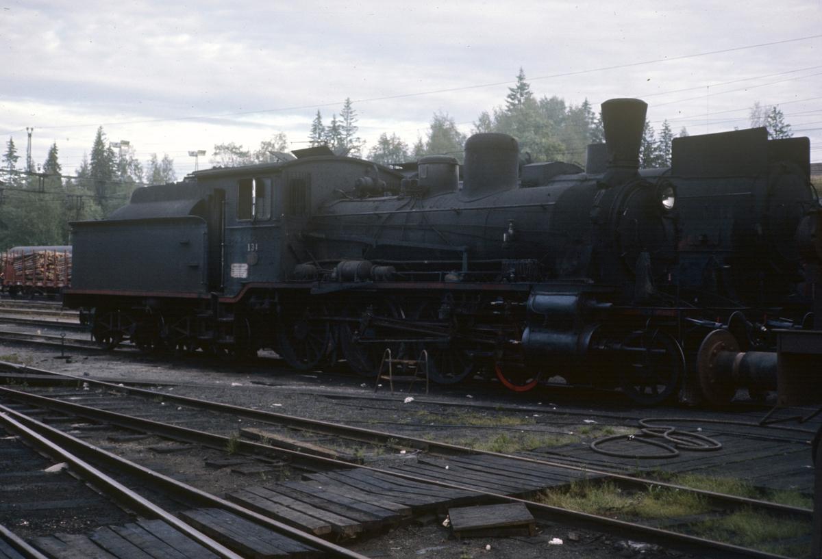 Damplok type 18c nr. 134 på Kongsvinger stasjon. Dette var da Norges eldste damplok i drift, bygget i 1901.