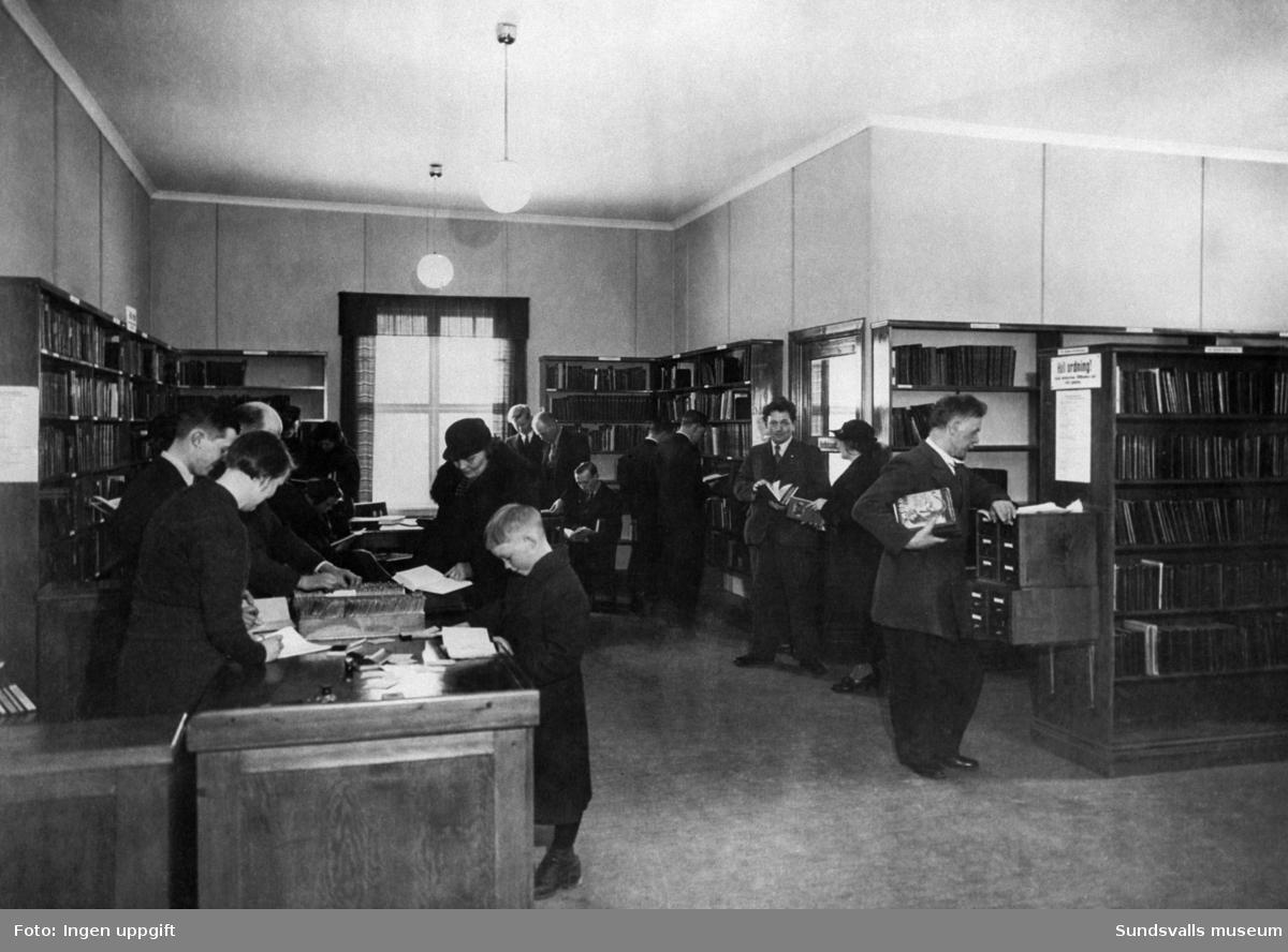 ABF:s o IOGT:s bibliotek i Grängesberg.