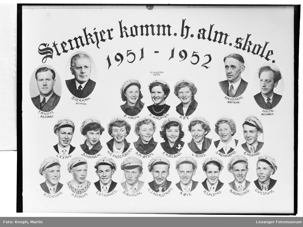 Steinkjer komm. h.alm. skole 1951-52