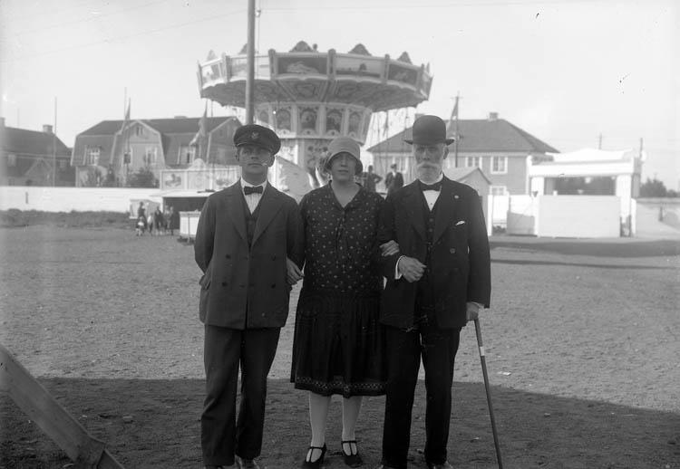 Besökare på utställningsområdet, Uddevallautställningen 1928