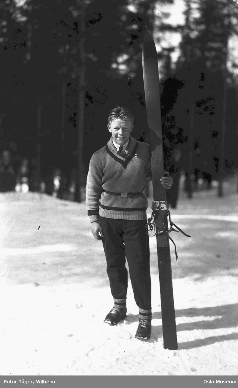 mann, skiløper, ski, skigenser