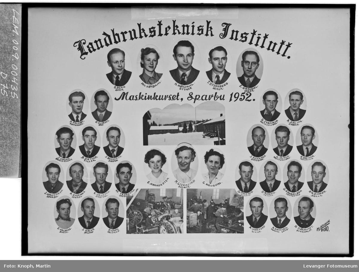 Landbruksteknisk Institutt. Maskinkurset i 1952.