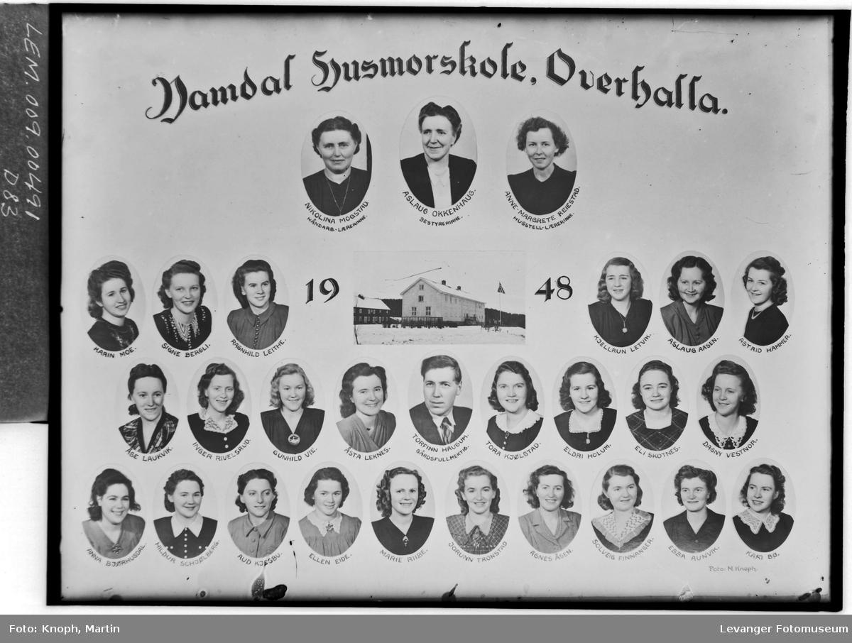 Namdal Husmorskole, Overhalla i 1948