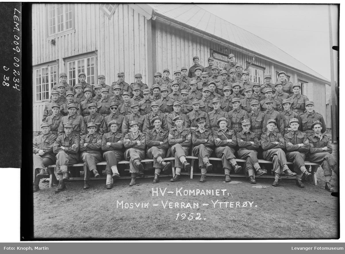 HV-kompaniet fra Mosvik - Verran - Ytterøy, 1952.  II