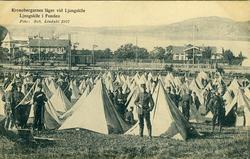 """Enligt Bengt Lundins noteringar: """"Kronobergarnas läger vid L"""