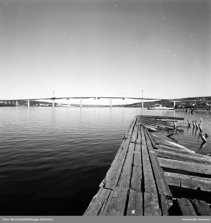Bygget av Alnöbron.