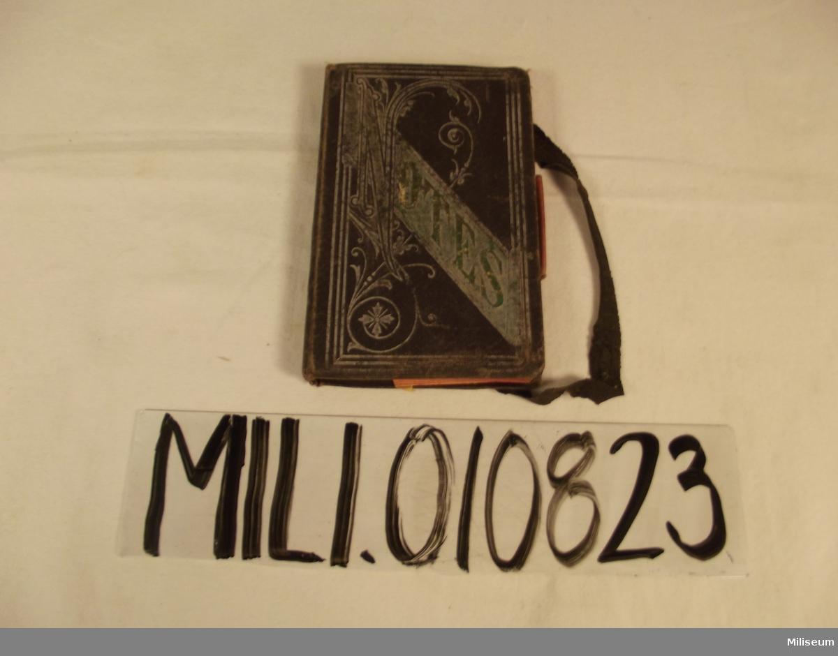 Anteckningsbok som tillhört August Palm , daterad till den 14 juni 1891