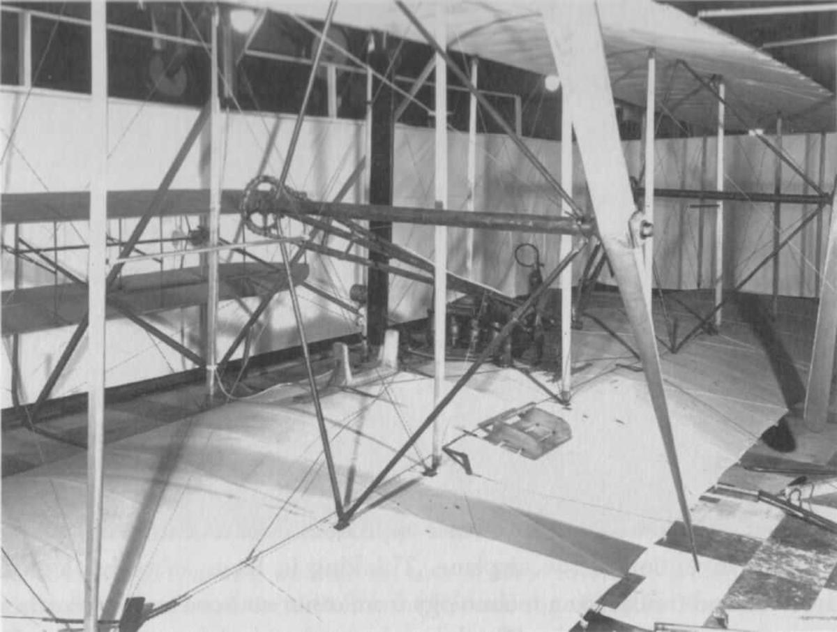 Detalj av eldre flytype