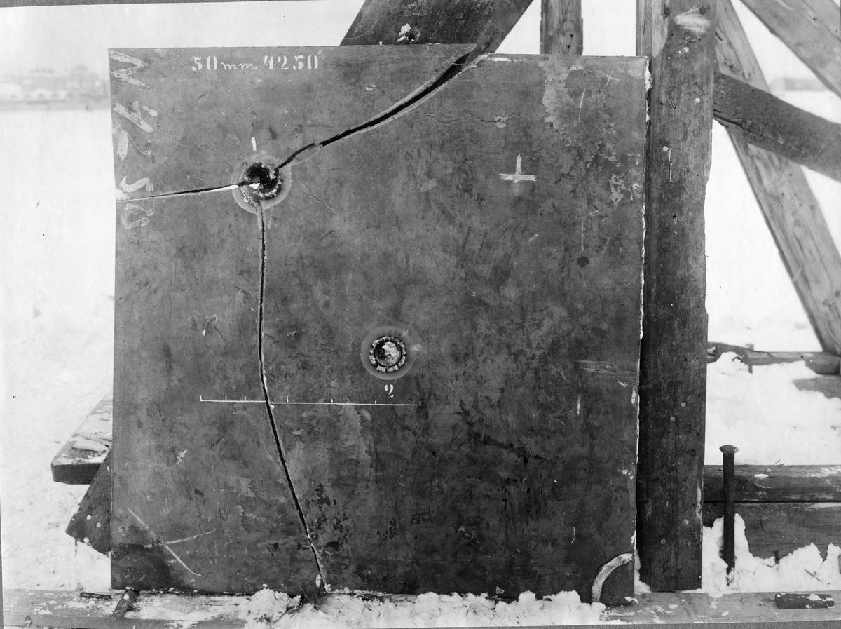 Övrigt: Avestaplåt från skjutbanan