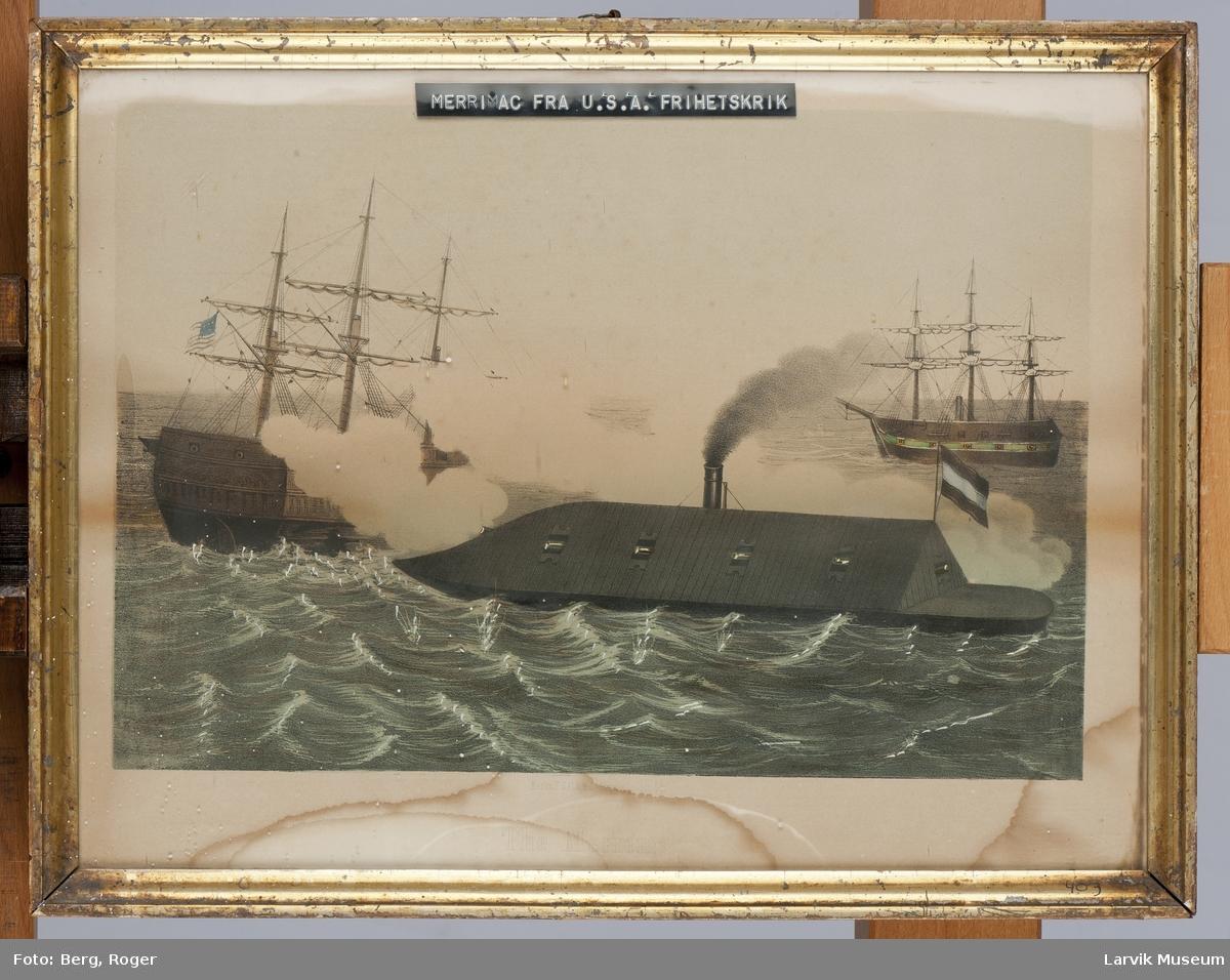 USS Merrimack og 2 korvetter