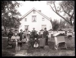 Gruppfoto från biodlarkursen på Heden i Svarteborg i juli 19