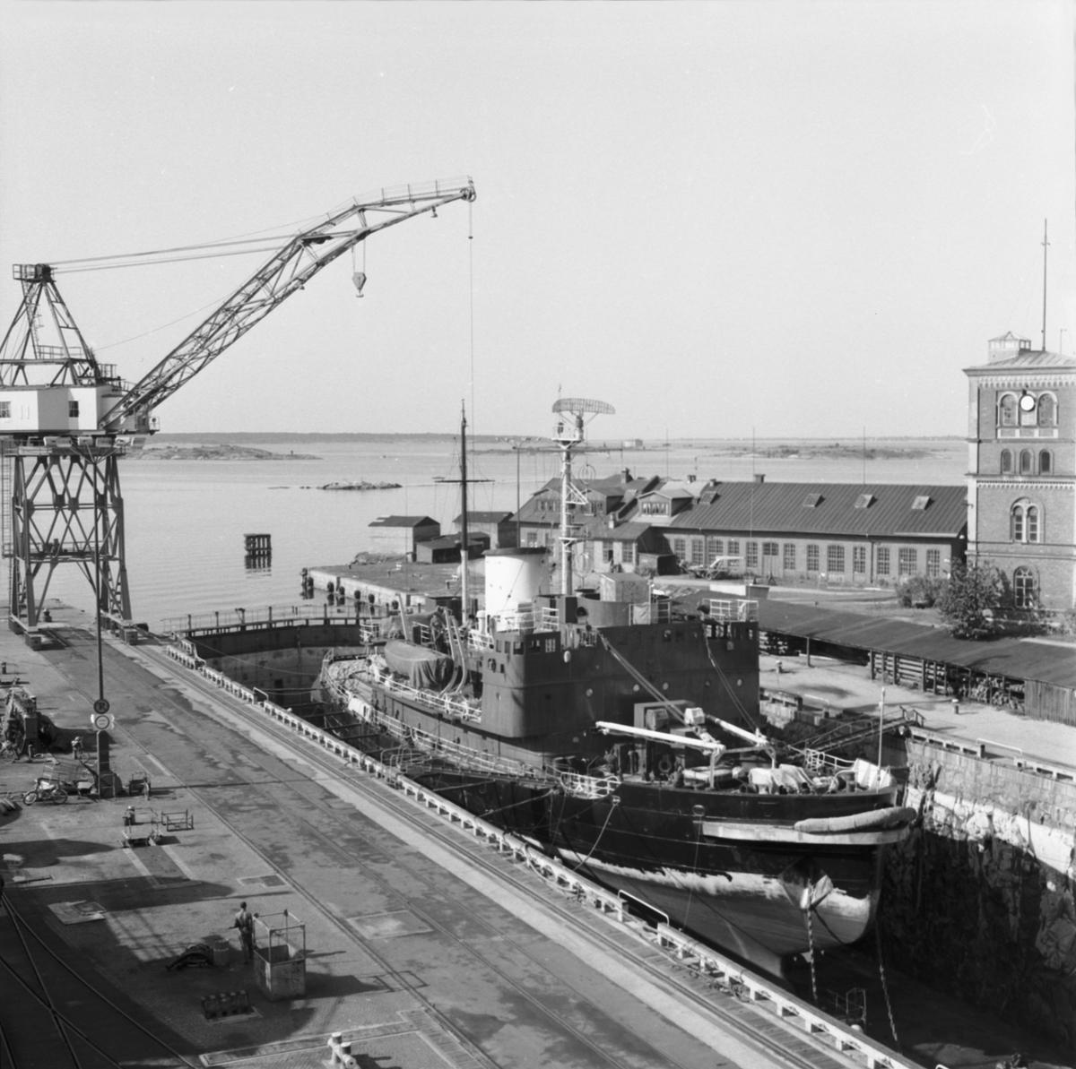 Fartyg: THULE                           Rederi: Svenska staten Byggår: 1953 Varv: Örlogsvarvet, Karlskrona Övrigt: Thule i Oscarsdockan