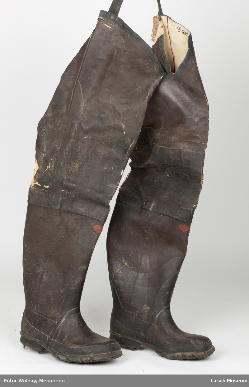 Gummistøvler, lange, med stropp øverst