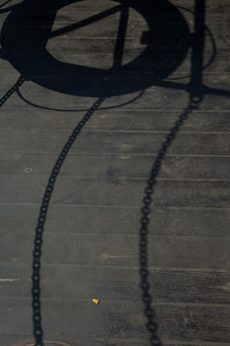 Fartyg: FÄRJAN 4                       Bredd över allt 5,35 meter Längd över allt 20,12 meter Maskinstyrka 70 ind hkr Reg. Nr.: 6392 Rederi: Sjöfartsmuseet i Göteborg Byggår: 1920 Varv: Motala Verkstad