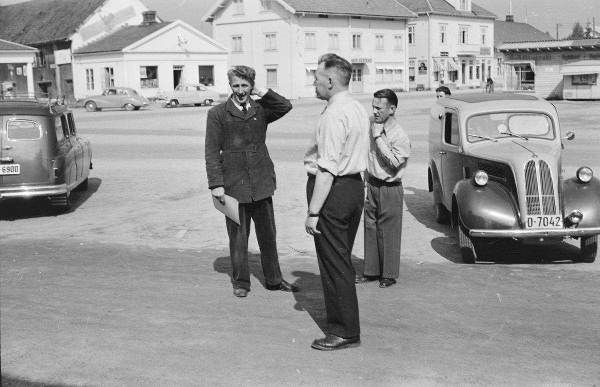 Fra billøp i Elverum. 1954.