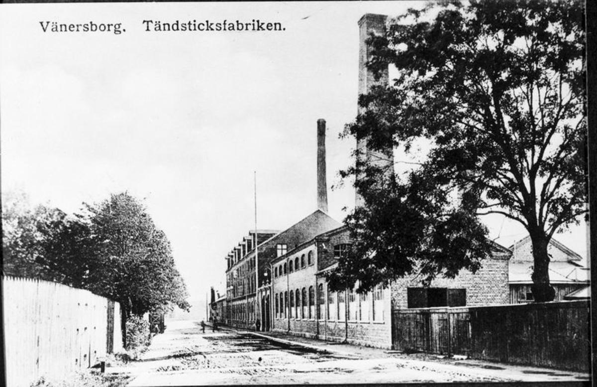 Tändsticksfabriken (vykort)  Vänersborg