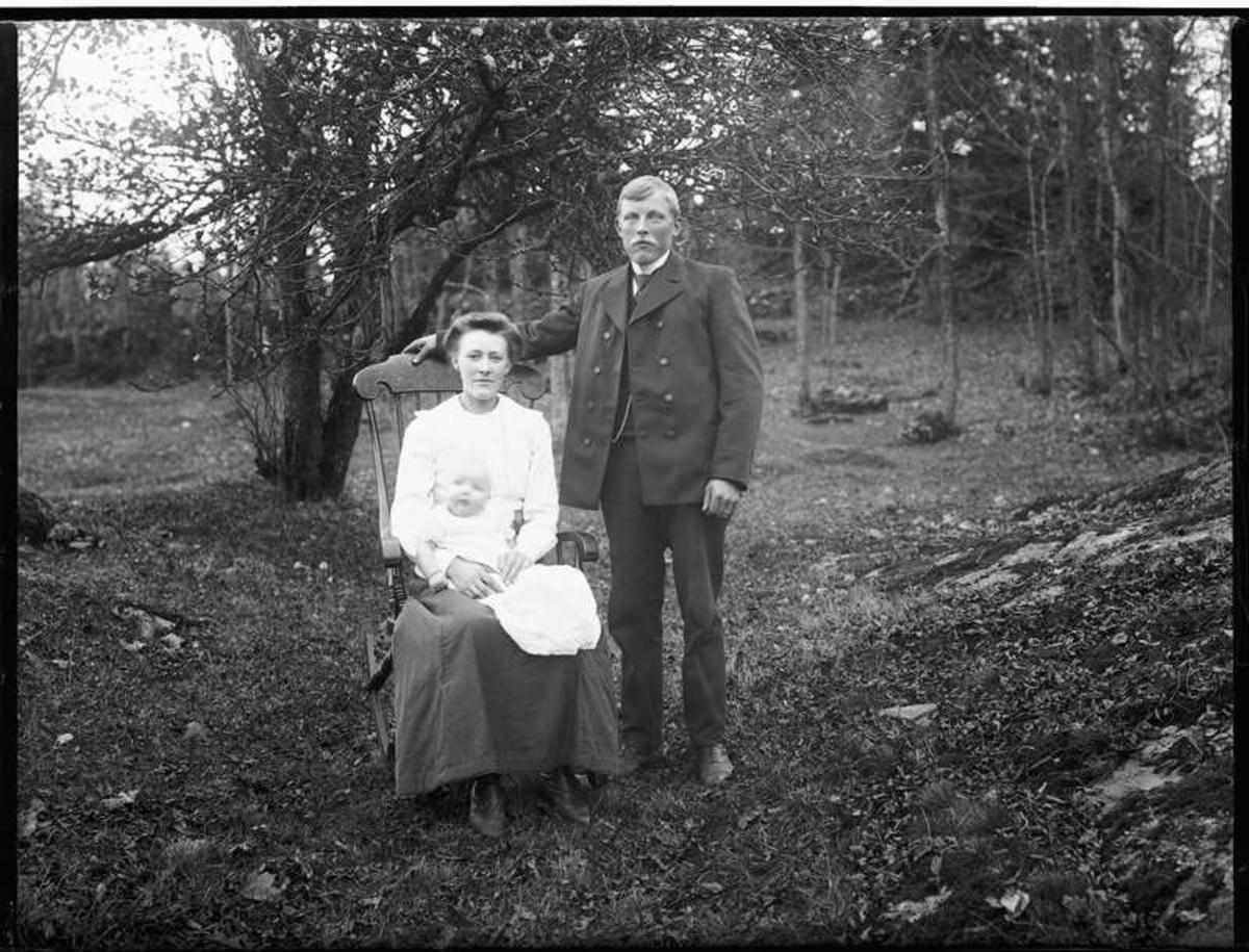 Familjen Anders Abrahamsson i Öresbo.