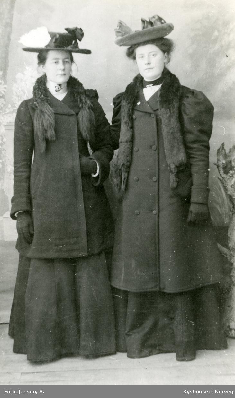 Ida og Klara Jørgine Petersdatter Krogvik