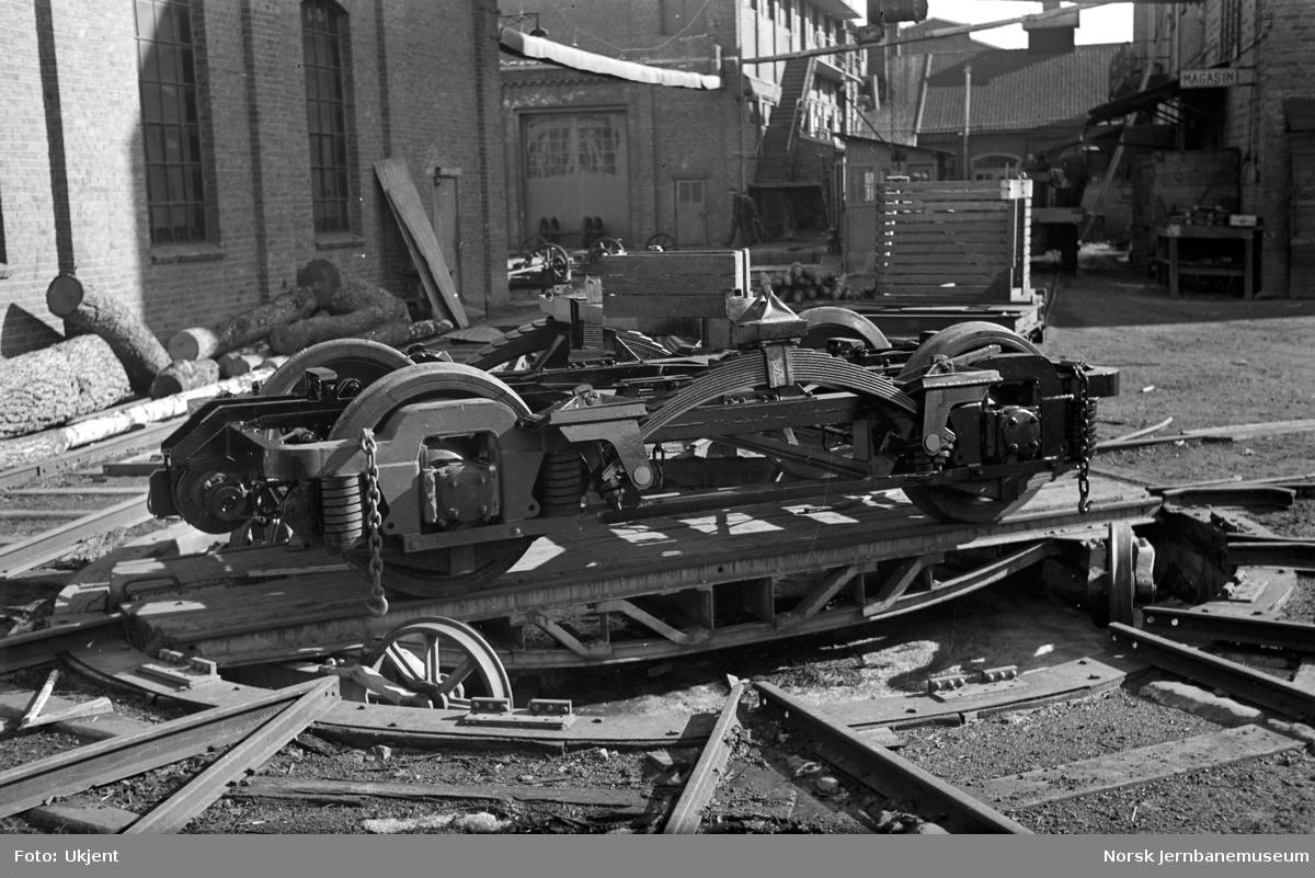 Boggi til elektrisk motorvogn litra CFmeo type 106 (BFM 66) på Skabo Jernbanevognfabrik